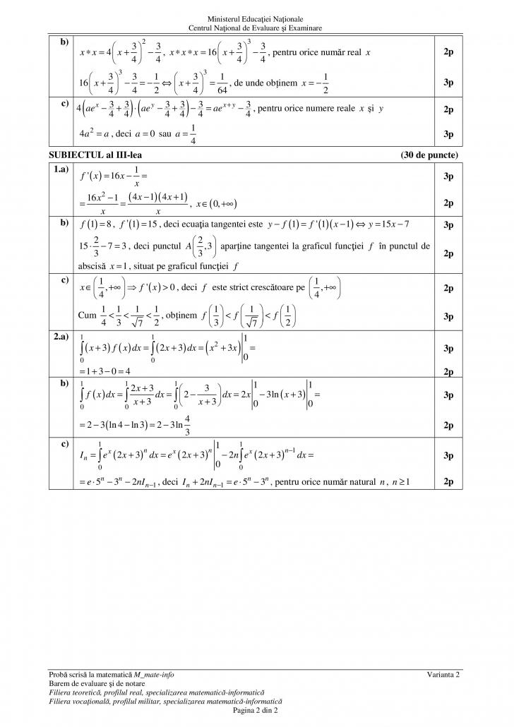bac 2018 matematica barem mate info subiectul 3