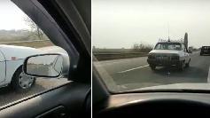 Un sofer de VW a ramas fara cuvinte! Cu ce viteza l-a depasit aceasta Dacie 1310! A filmat kilometra