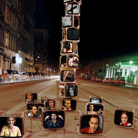 """Afişul Spectacolului """"Şapte dintr-o lovitură"""" Foto: TNB"""