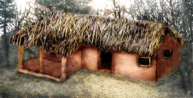 Foto: Casa cu prispa getica