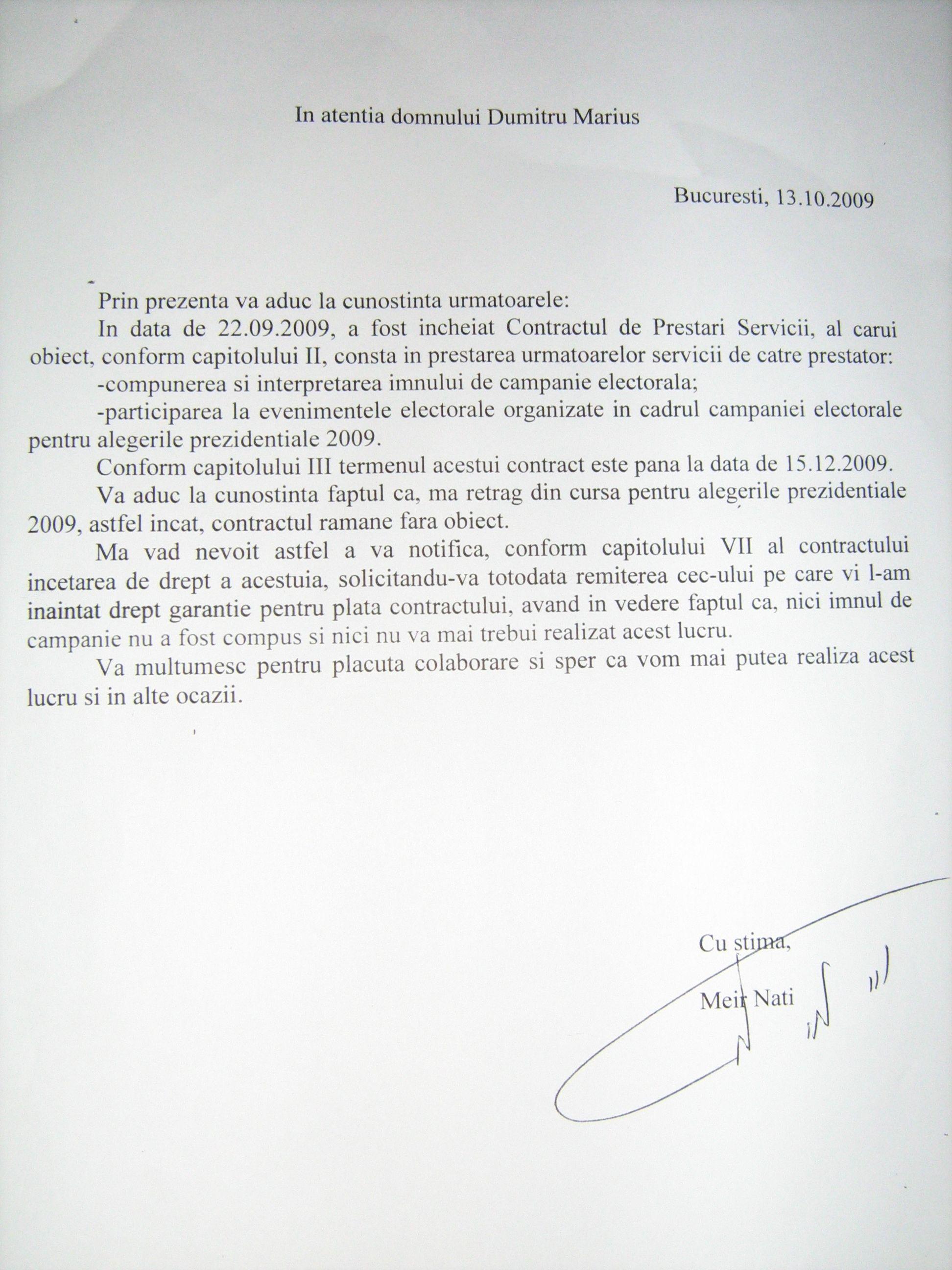 Deşi a plătit avansul cu cecuri fără acoperire şi bancnote specimen, candidatul independent îi cerea înapoi lui Adrian Minune suma de 50.000 de euro în data de 13 octombrie.