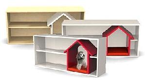 Rafturi pentru cărţi cu adăpost pentru animale
