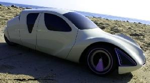 Modelul Citroen DS 2022, realizat de designerul Jacob McMurry