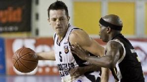 Branko Cuic (U Cluj) a jucat cu nasul spart în meciul cu CSU Sibiu.