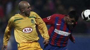 Roş-albaştrii, primii în Europa League la şuturi pe poartă.