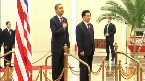 Barack Obama şi omologul său chinez, Hu Jintao