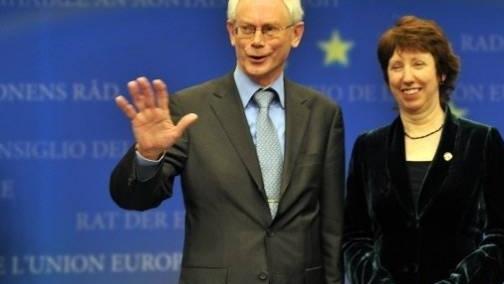 Catherine Ashton şi preşedintele UE Herman Van Rompuy sunt ambii foarte contestaţi