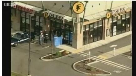 Cafeneaua unde au fost împuşcaţi patru poliţişti la Washington
