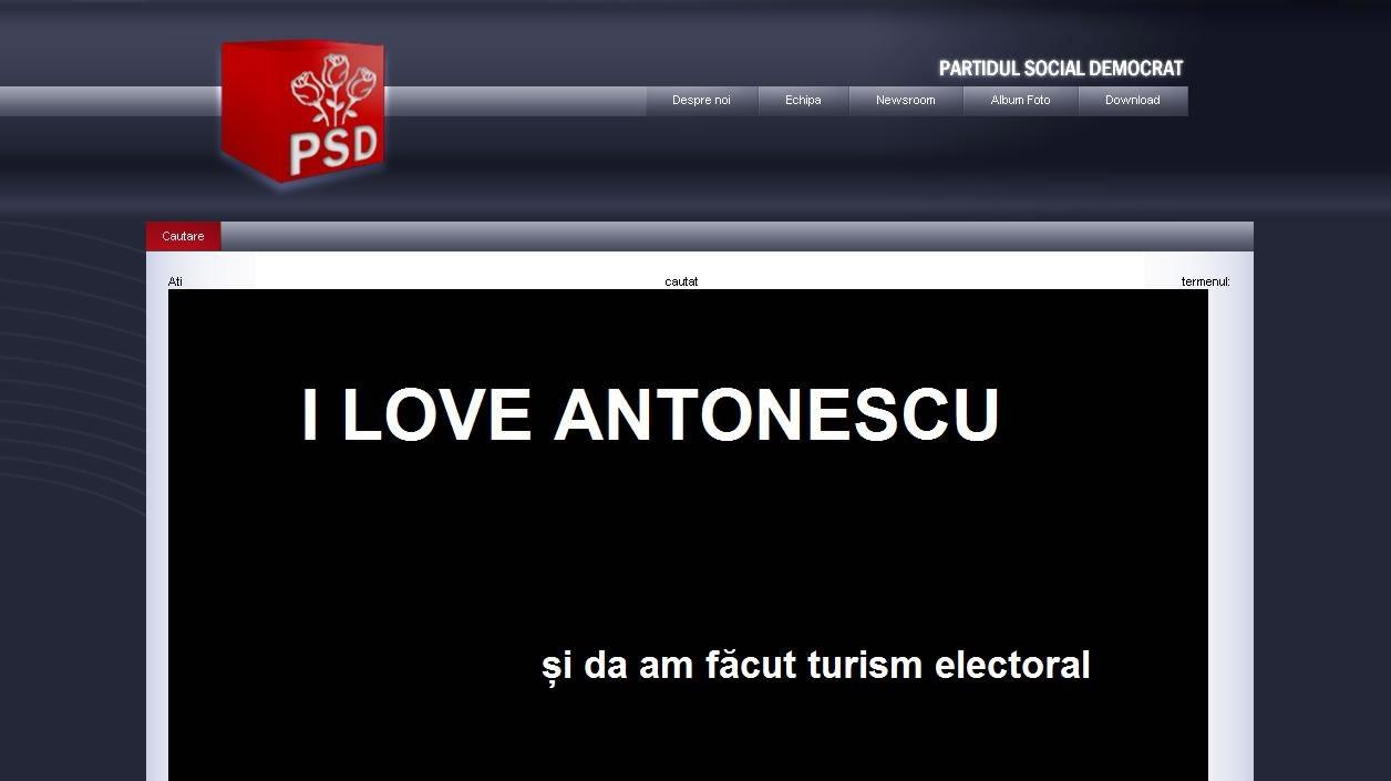 Site-ul PSD.ro a fost ţinta unor farse cu Vadim şi Antonescu