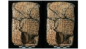 Una dintre tabletele descoperite în Turcia