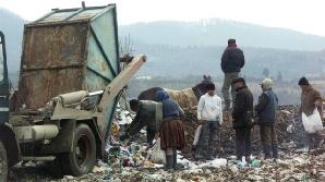 Zeci de oameni consumă alimente expirate de la groapa de gunoi din Fieni