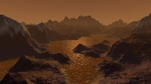 Lacuri de metan pe suprafaţa satelitului Titan