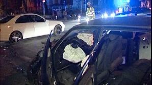 Trei maşini au fost implicate într-un accident rutier