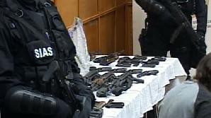Armele furate de la depozitul din Ciorogârla