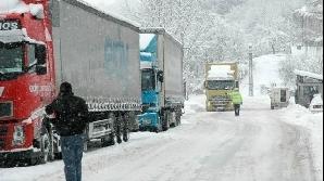 Traficul a fost îngreunat pe mai multe drumuri naţionale din sudul şi sud-estul României
