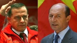 Traian Băsescu şi Mircea Geoană, subiecte de banc