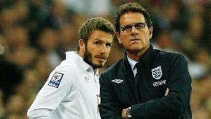 David Beckham, alături de selecţionerul Capello