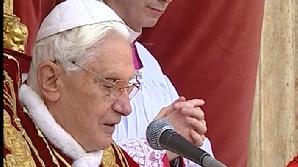 Benedict XVI a rostit mesajul Urbi et Orbi/Foto: Realitatea TV