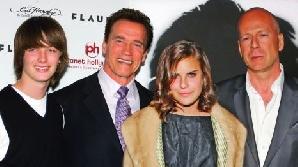 Bruce Willis şi fiica lui, Arnold şi Patrick Schwarzenegger