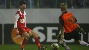 Andrei Cristea, într-un meci cu Astra