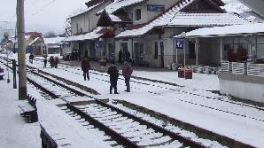 Iarna-n gară