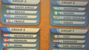 Grupele A şi D sunt cele mai grele de la CM 2010