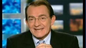 Prezentatorul TF1, Jean-Pierre Pernaut, a fost atacat cu bulgări în direct