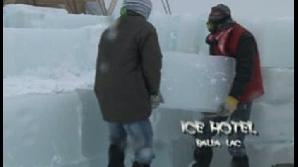 O cameră la hotelul de gheaţă costă 99 de lei pe noapte