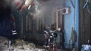 Primăria din Obrejiţa a luat foc