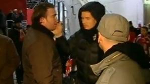Lehmann a avut o altercaţie cu un suporteri şi s-a alex cu o plângere la poliţie