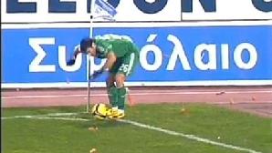 Fanii lui Iraklis l-au luat la ţintă pe Karagounis