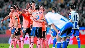 Messi a marcat două goluri pentru Barcelona
