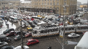 Trafic extrem de aglomerat in Capitală, în zona Gării de Nord