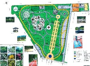 Planul parcului Ghencea