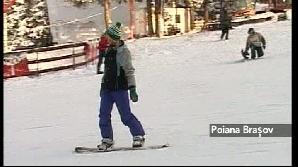 Zăpada pe pârtii este foarte bună pentru sporturile de iarnă