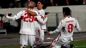 Jucătorii de la Stuttgart sărbătoresc calificarea în optimile LC