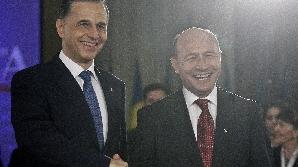 Traian Băsescu şi Mircea Geoană