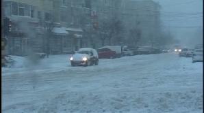 Ninsoarea a bulversat traficul în Capitală
