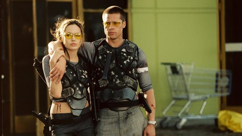 Angelina Jolie si Brad Pitt în \