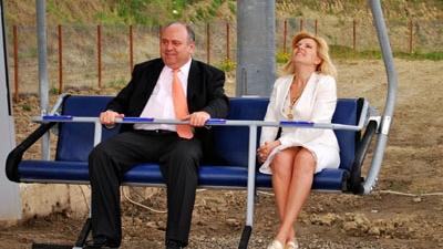 Gheorghe Ştefan şi Elena Udrea în telescaun, toamna