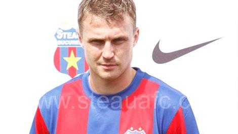 Sorin Ghionea evoluează la Steaua din 2002.