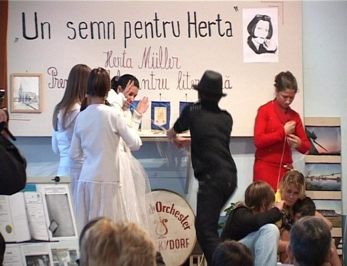 Hertha Muller sărbătorită în satul natal