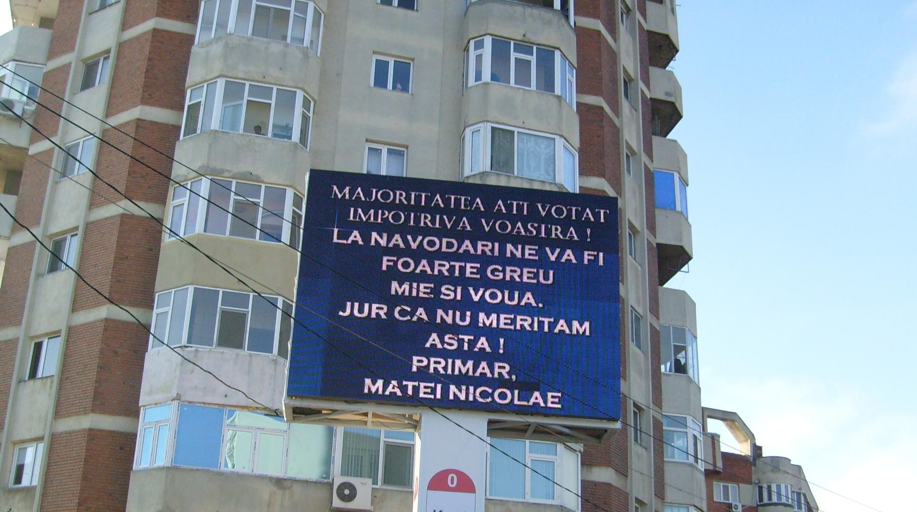 Primarul din Năvodari îi ceartă pe alegători