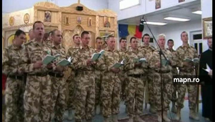 Soldaţii români care participă la misiuni internaţionale au sărbătorit şi ei Crăciunul