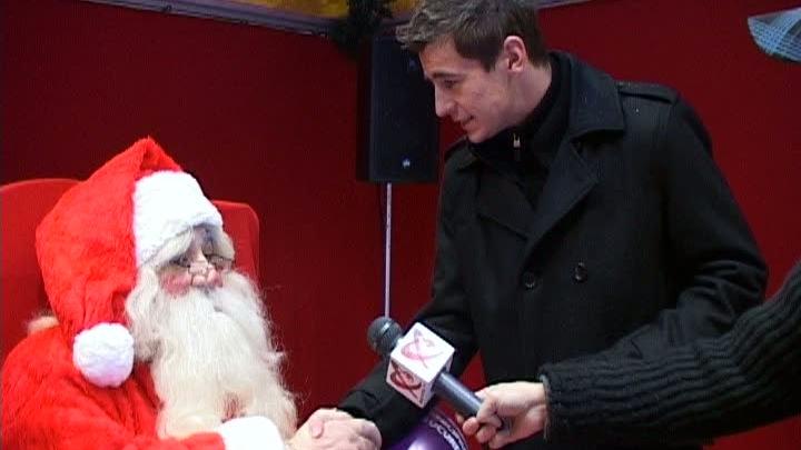 Stelistul Mihai Onicaş s-a întâlnit cu Moş Crăciun / Foto: RTV