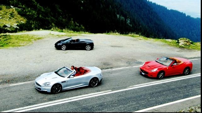 Vedetele Top Gear s-au plimbat şi pe Transfăgărăşan