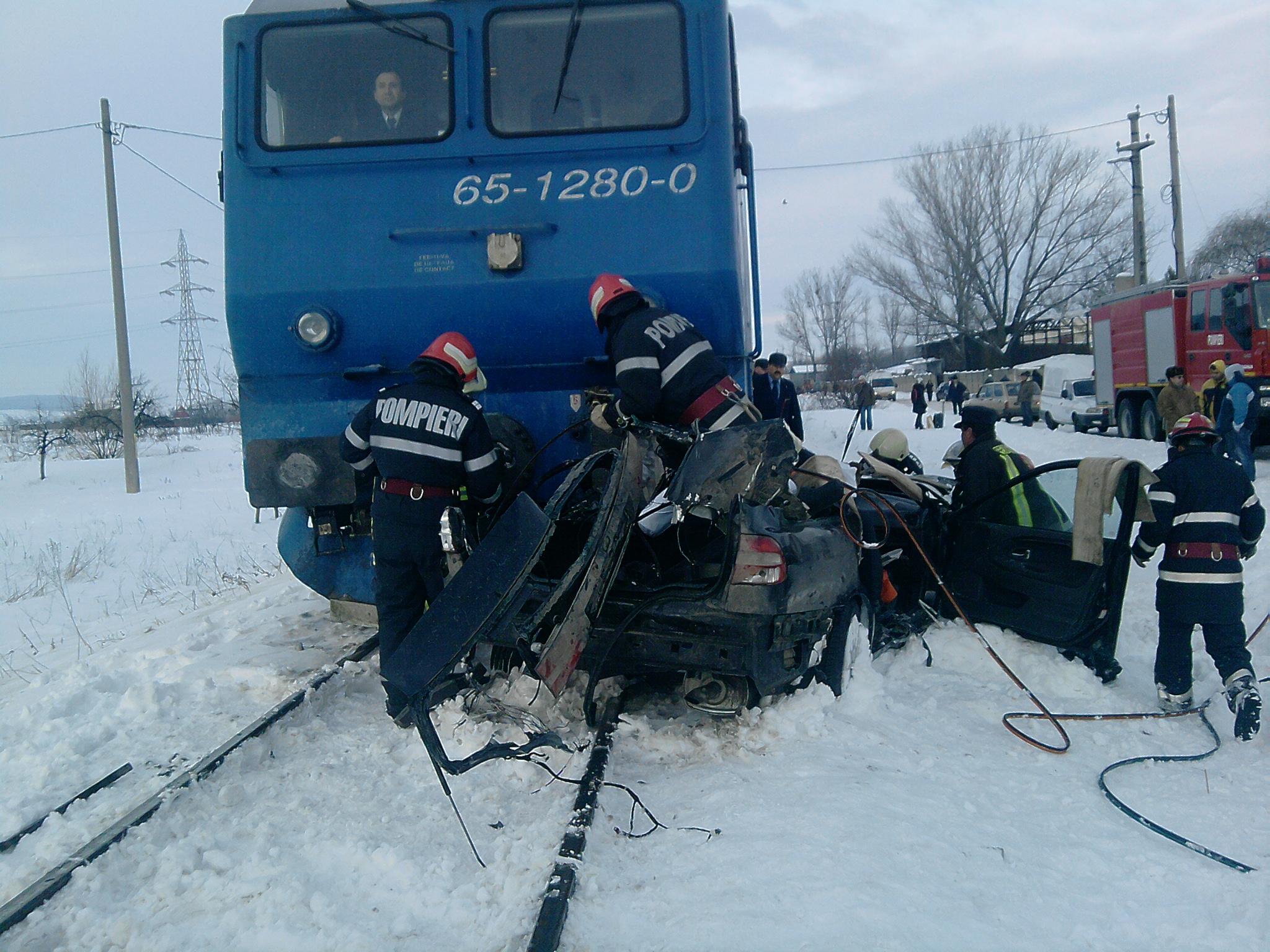 Accident feroviar la intrarea în judeţul Vaslui