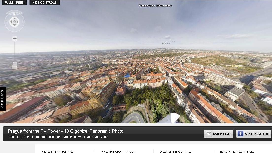 Praga a fost fotografiată timp de o lună de pe vârful unui turn de televiziune.
