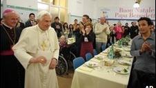 Papa a participat la o acţiune caritabilă