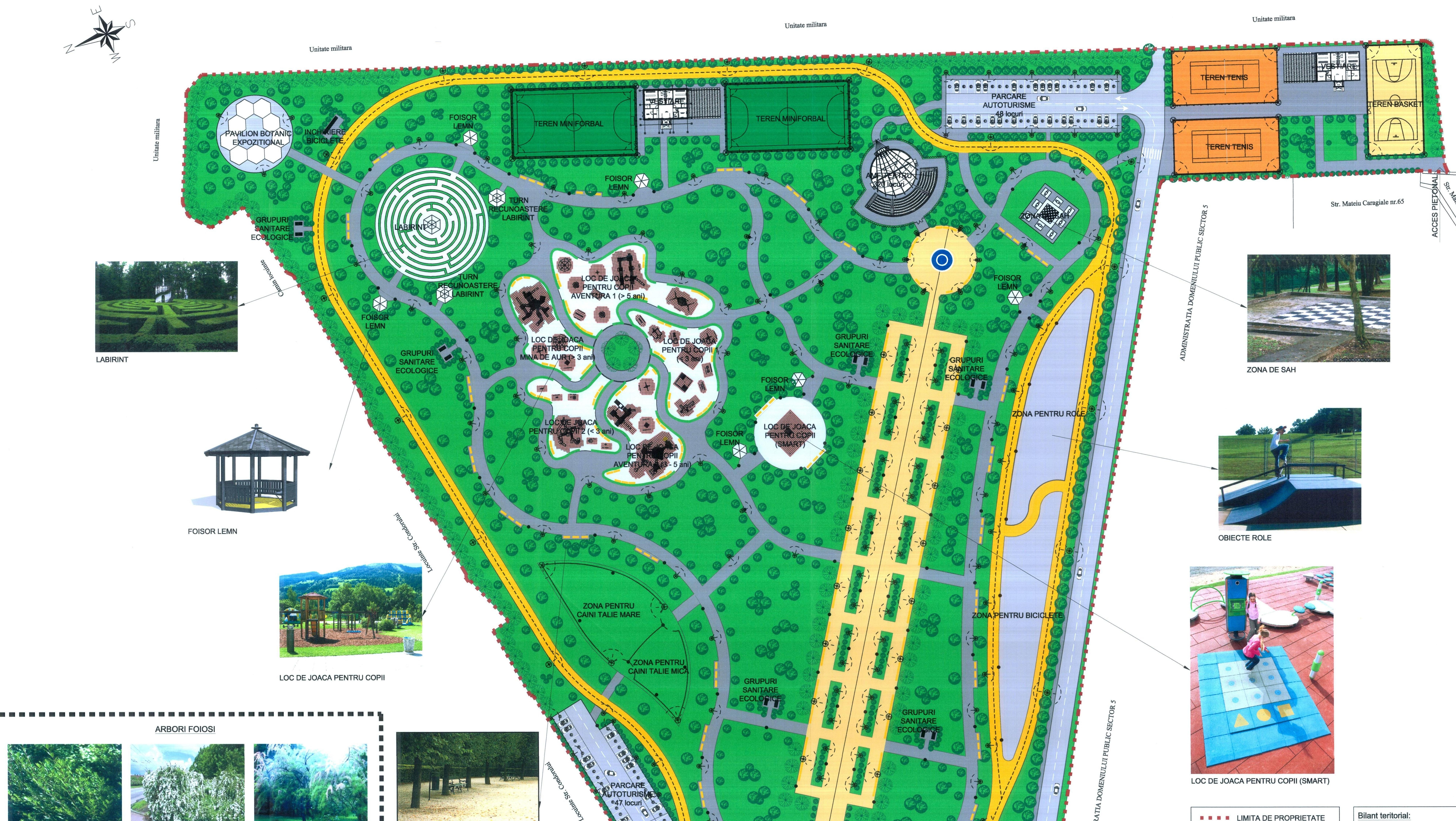 Schita parcului Ghencea